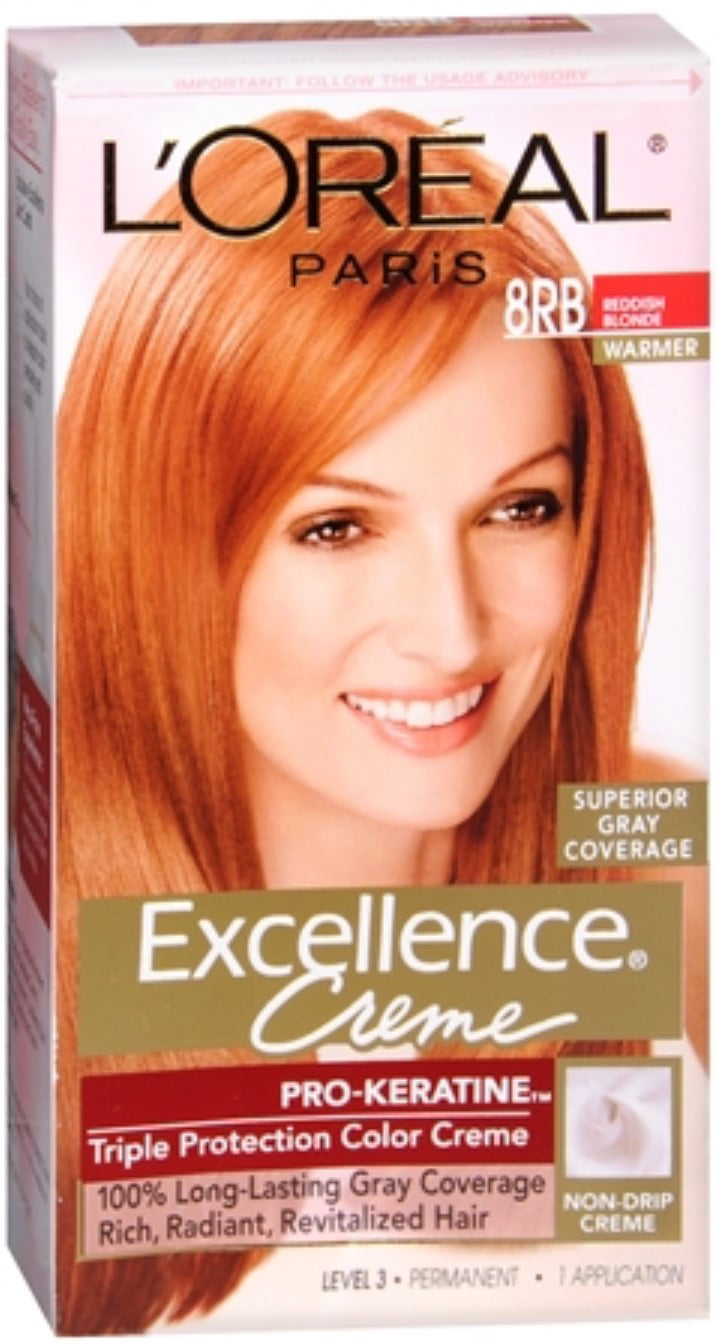 L Oreal Excellence Creme 8rb Medium Reddish Blonde Warmer 1 Each Pack Of 2
