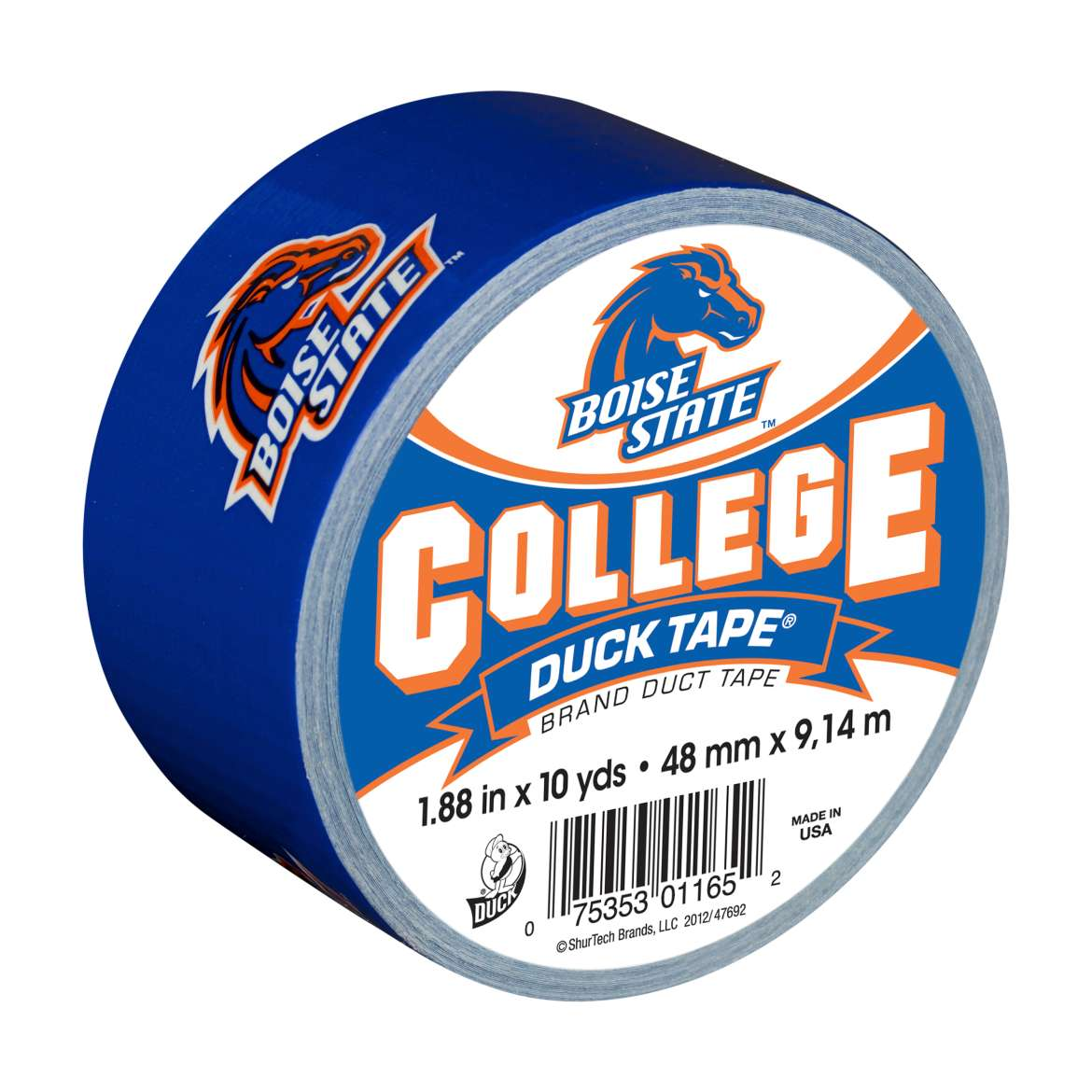 "Duck Brand College Logo Duck Tape, 1.88"" x 10 yard, Boise State Broncos"