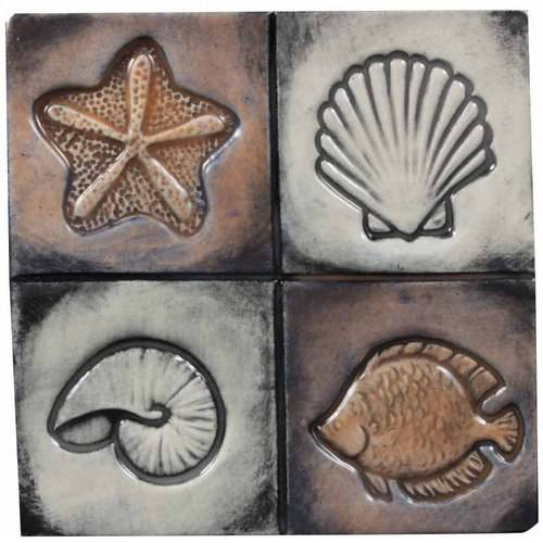 "Mayco Clay Press Tool Set, Seaside Designs, 1.75"" Diameter, Set of 4"