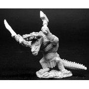 reaper miniatures shrend, alligator-man #02763 dark heaven unpainted metal