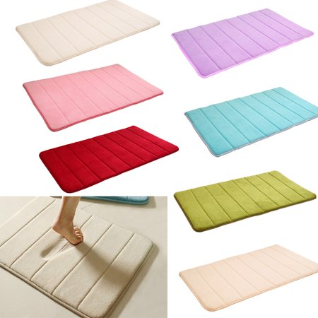 Outgeek Soft Thickened Stripe Coral Velvet Non Slip Shower Rug Bath Mat Carpet Home Decorations for Bathroom Kitchen Door Floor 23.62'' x 15.75''](Door Decoration Ideas)