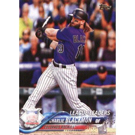 2018 Topps #92 Charlie Blackmon Colorado Rockies Baseball Card