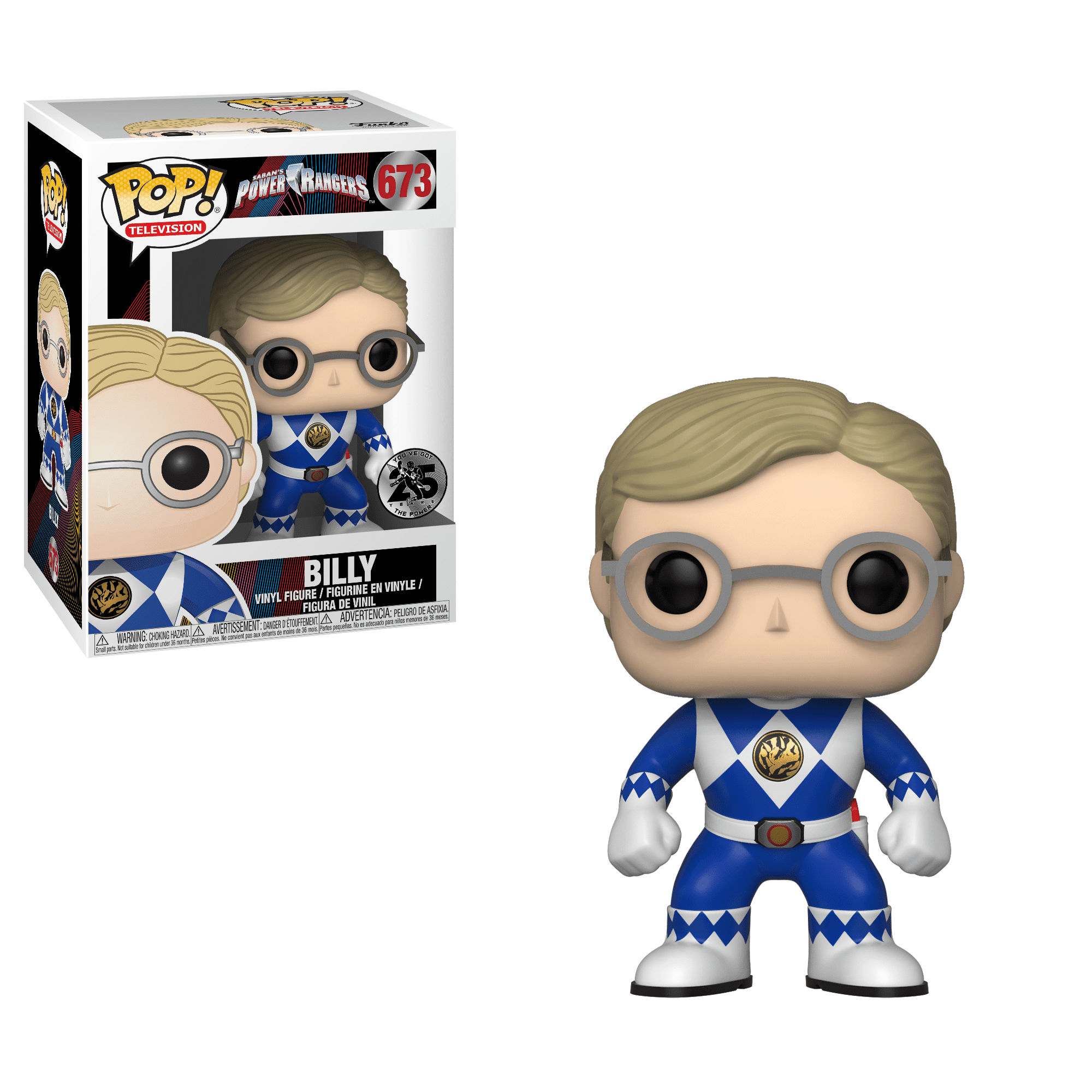 Funko Pop TV: Power Rangers Billy (Blue Ranger) by Funko