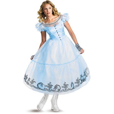 Alice In Wonderland Movie Adult Halloween Costume - Alice In Wonderland Halloween Decorations