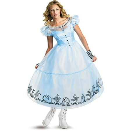 Alice In Wonderland Movie Adult Halloween Costume (Alice In Wonderland Costume Diy)