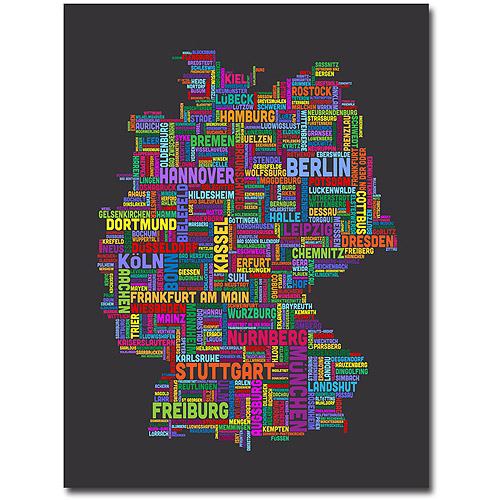 "Trademark Art ""Germany"" Canvas Wall Art by Michael Tompsett"