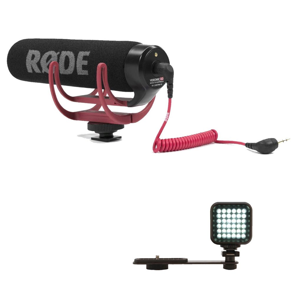 Rode VMGO Video Mic GO Microphone + Vivitar SLR-Photo-Video LED Light