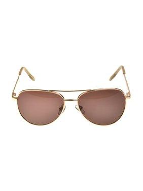 Foster Grant Women's Rose Gold Aviator Sunglasses K01