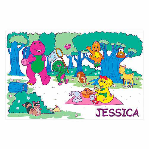 Personalized Barney Picnic in the Park Placemat