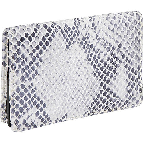 Leatherbay Snake Print Flip Top Wallet