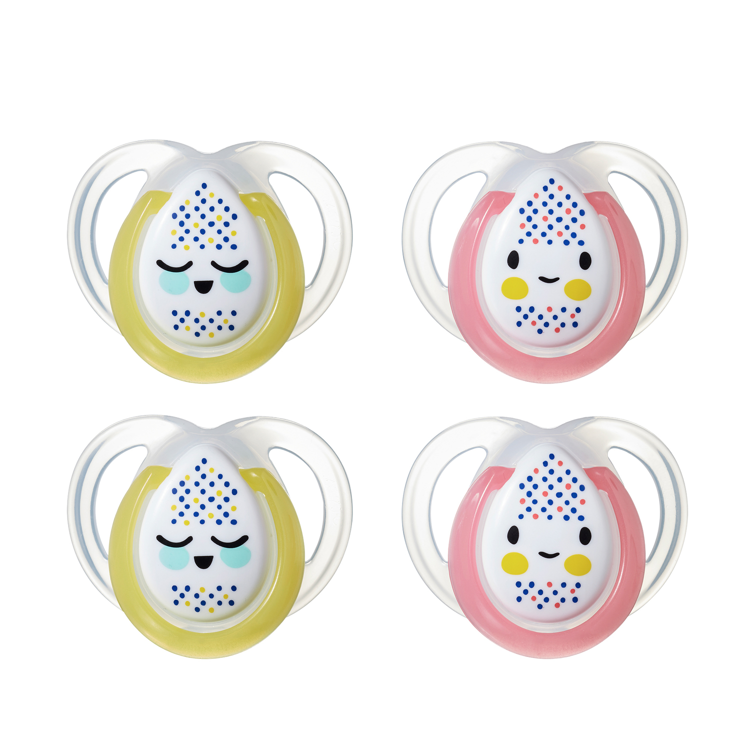Tommee Tippee Closer to Nature Night Time Baby Pacifier, 0-6m, 4pk, Unisex