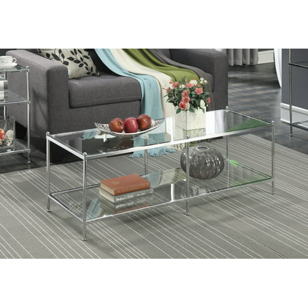 Convenience Concepts No Tools Royal Crest Coffee Table, Multiple Finishes (Powell Glass Coffee Table)