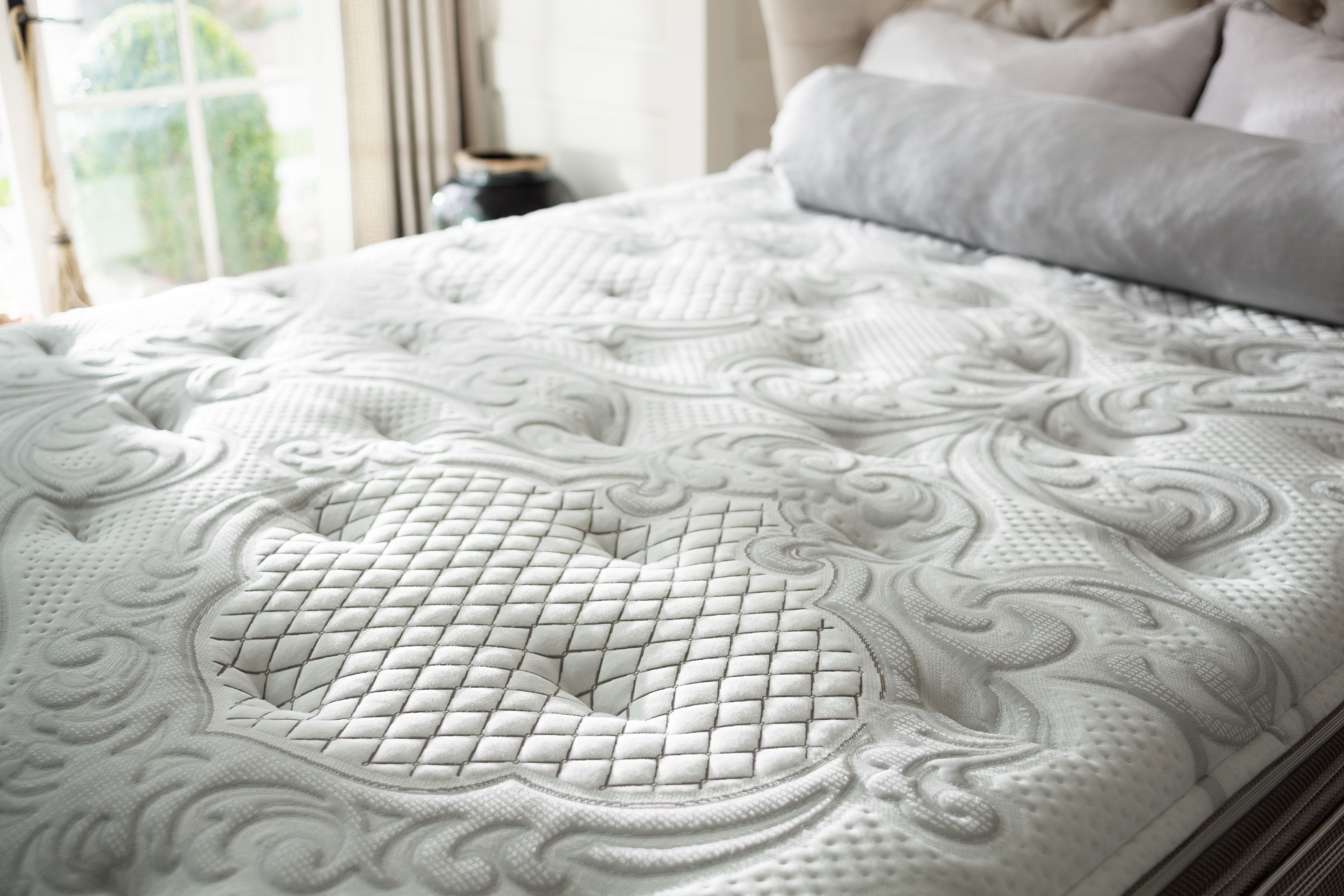 simmons beautyrest recharge world class rory luxury firm pillow top mattress image 3 of 6
