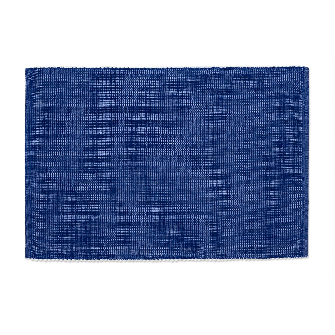 Linen Tablecloth Ribbed Cotton Placemat Set (Set of 4), Denim Blue by Linen Tablecloth