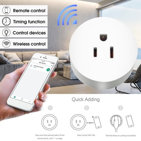 1250W 125V Smart Outlets WiFi Plug Timing Switch with Optional Electric Quantity Measurement Function