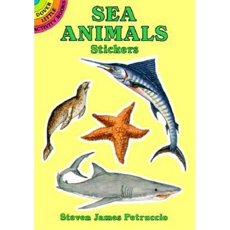 Dover Little Activity Books: Sea Animals Stickers (Paperback)