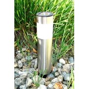 4 Pack Solar Powered Stainless Steel Cylinder Pathway LED Garden Driveway Light