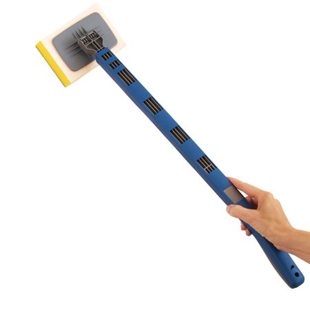 Shower Tub Tile Scrubber Brush with Extendable Handle and Swivel Head for Hard-to-Reach Places - Cleaning Supplies for Bathroom, Blue