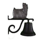 Montague Metal Products CB-1-61-SI Cast Bell With Swedish Iron Yorkshire Terrier Ornament