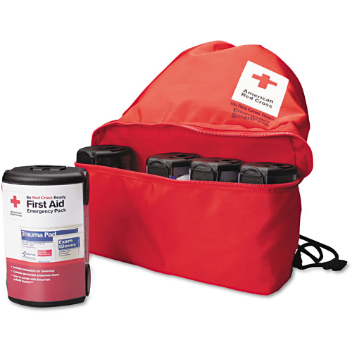 First Aid Only American Red Cross Emergency Smartpack for One Person, Nylon Case