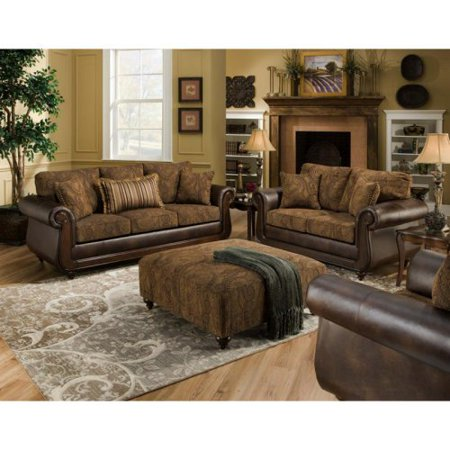 Chelsea Home Oneida Sofa Set And Ottoman Isle Tobacco