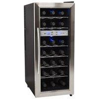 """EdgeStar TWR215E Stainless Steel 13"""" Wide 21 Bottle Wine Cooler"""