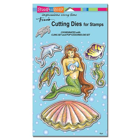 Mermaid Die Cut Set  , Stamps B438 2003782 Bath DCS5092 Template Bouquet Item Cutting Winter Build foils Windmill Musical Thin item Cut.., By STAMPENDOUS Ship from US