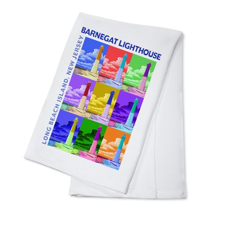 Barnegat Lighthouse, New Jersey Shore - Lantern Press Artwork (100% Cotton Kitchen Towel)
