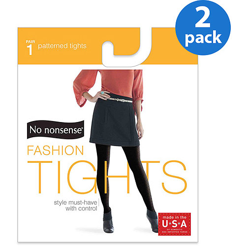 No nonsense Women's Cable & Ribbed Tights - 2 Pair