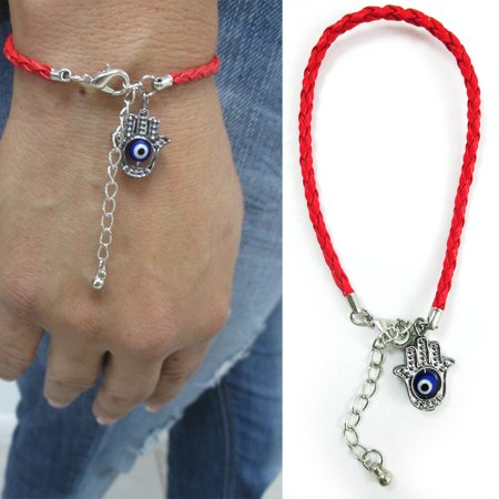 Women Hamsa Hand Evil Eye Rope Bracelet Good Luck Charm Kabbalah Red String Gift