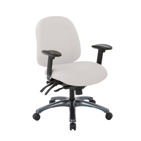 Titanium Finish Base (Office Star Products Pro-Line II Multi-Function Mid Back Chair with Seat Slider and Titanium Finish)