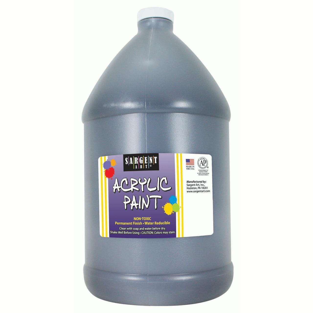 Sargent Art® Acrylic Paint, Black, 64 oz. Bottle (Half Gallon)