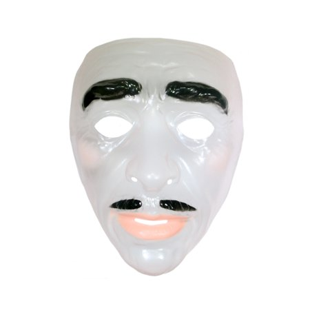 Mask Transparent Clear Face Adult Costume Accessory Plastic Halloween