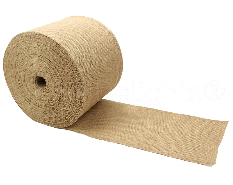 "Finished Edges 10 Yards 12/"" Premium Burlap Roll Natural Jute Burlap Fabric"