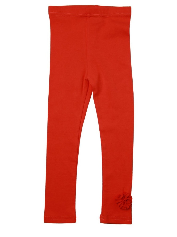 Richie House Little Girls Vermillion Ruffle Accent Stretch Pants 2-6
