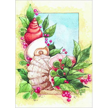 Tropical Christmas.Lpg Greetings Coastal Holiday Shells Diane Knott Box Of 18 Warm Weather Tropical Christmas Cards