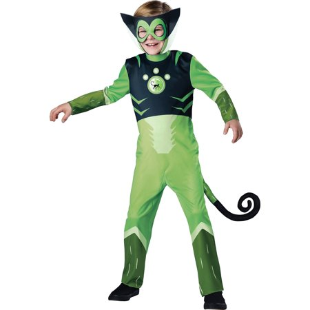 Wild Kratts Child Costume Green Chris Kratt Spider Monkey - 30s Costumes