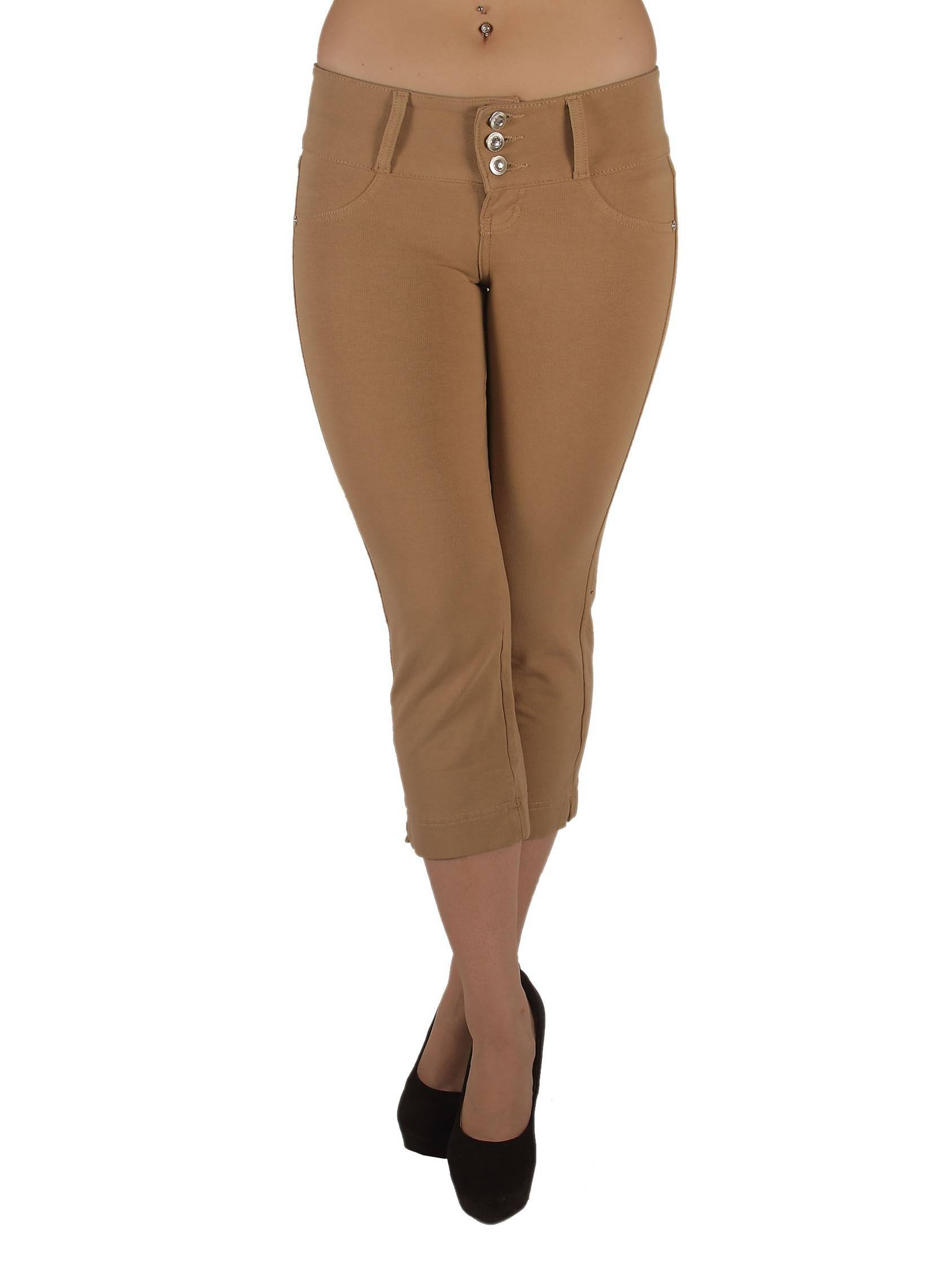 1129CP - Brazilian Style Butt Lift, Levanta Cola, Fashion Moleton Capri