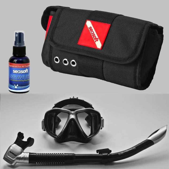 Seasoft Visionmaster Mask Snorkel Combo Pak
