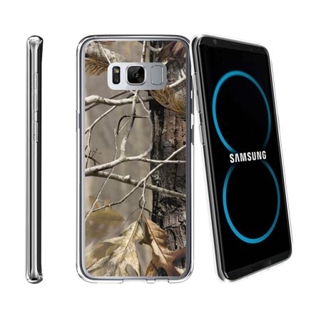 Case for Samsung Galaxy S8 SM-G950 | Galaxy S8 Transparent Silicone Case [ Flex Force ] Flexible Clear Case Camo Collection