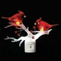 "Roman 59044 - 5.5"" Cardinal on Branch LED Night Light (5.5""led cardinal on branch nl)"