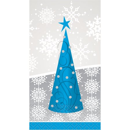 Silver Snowflake Christmas Paper Guest Napkins, 16ct