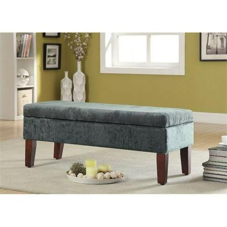 Kinfine n8545 f1259 teal velvet storage bed bench Velvet storage bench