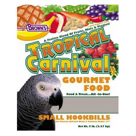 Brown's Tropical Carnival Small Hookbill Bird Food, 5 Lb Tropical Carnival Parakeet