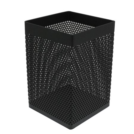 Unique Bargains Mesh Metal Rectangle Pencil Scissor Container Holder Stand Black](Wood Pencil Holder)