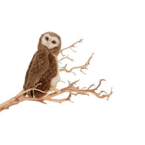 "Hansa Plush Brown Owl, 9"""