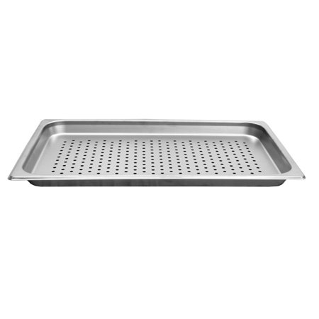Thunder Group STPA7001PF, Full Size 1 1/4-Inch Deep Perforated 24 Gauge Steam Pan, Stainless Steel, Rectangular