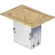 Hubbell Brass Floor Outlet Kit 71WDS