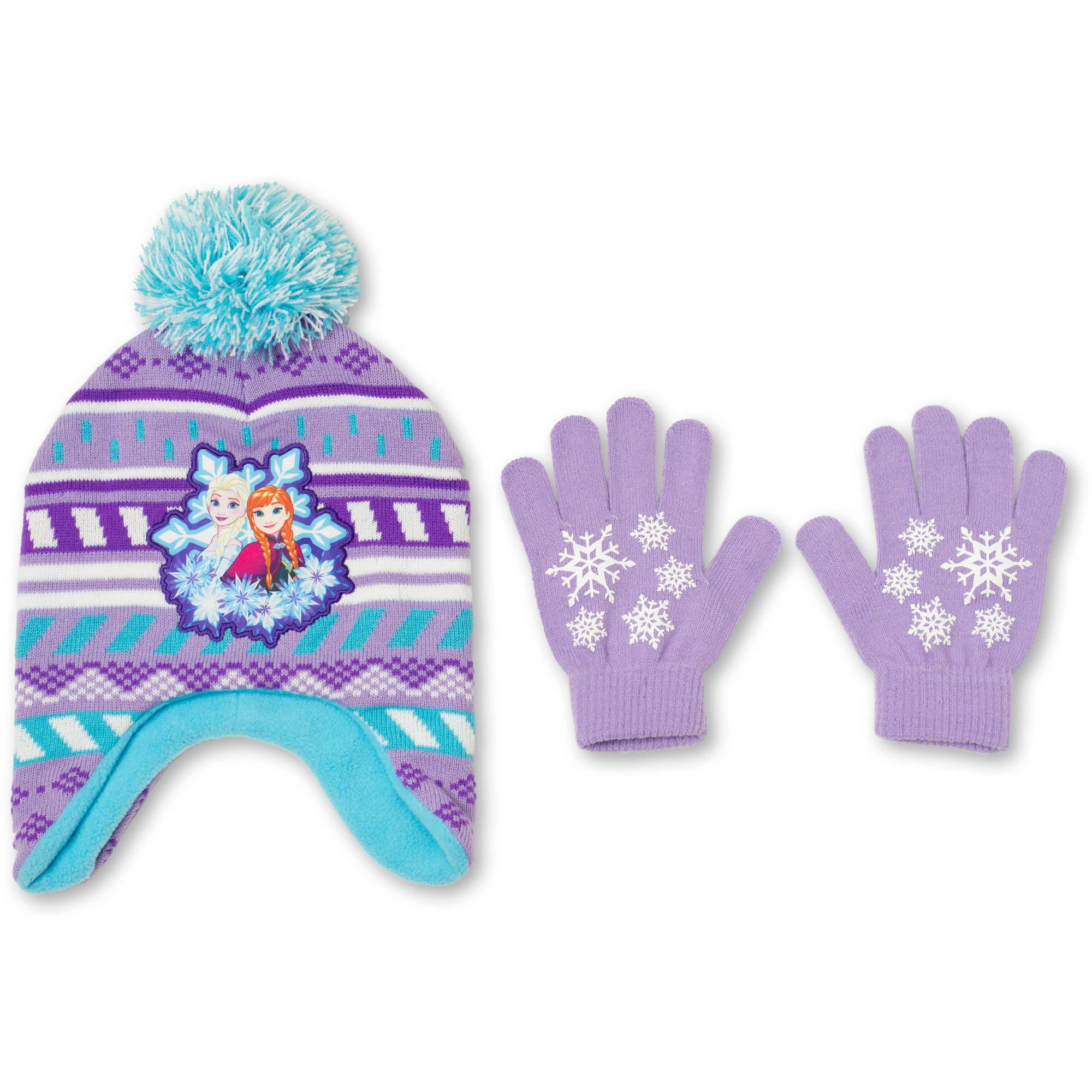 Disney Frozen Hat And Glove 2 Piece Set