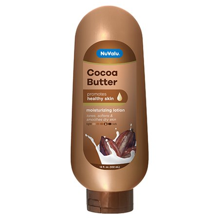 New 380310  Nuvalu Lotion Cocoa Butter 18 Oz (12-Pack) Skin Care Cheap Wholesale Discount Bulk Health & Beauty Skin Care Acne Wash